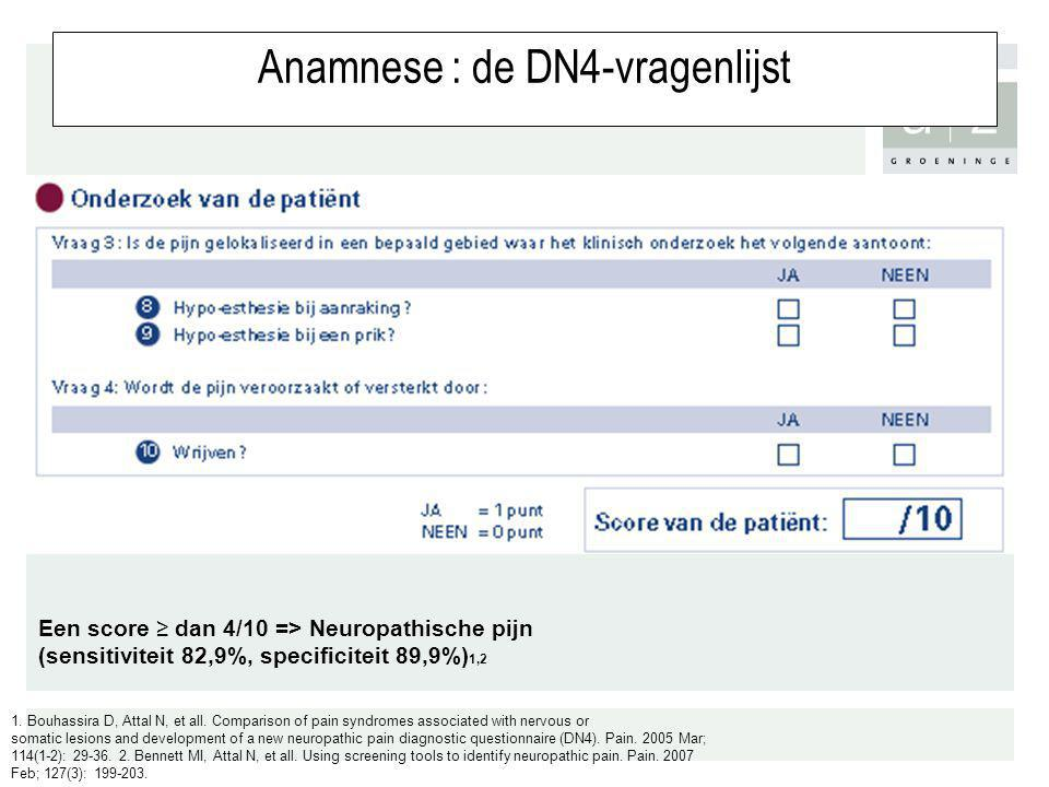 Anamnese : de DN4-vragenlijst