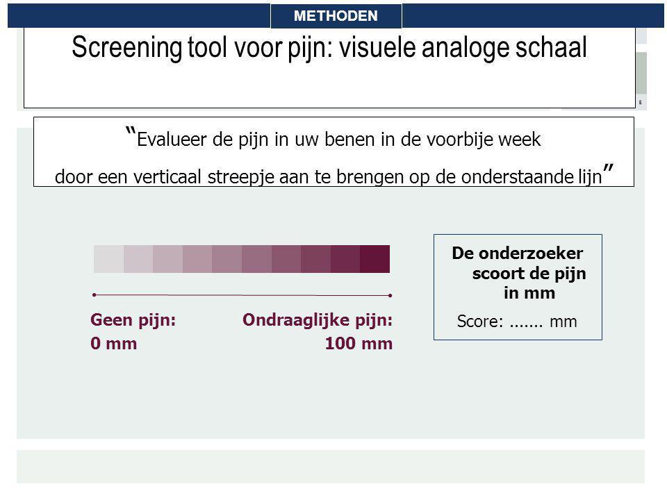 Screening tool voor pijn: visuele analoge schaal