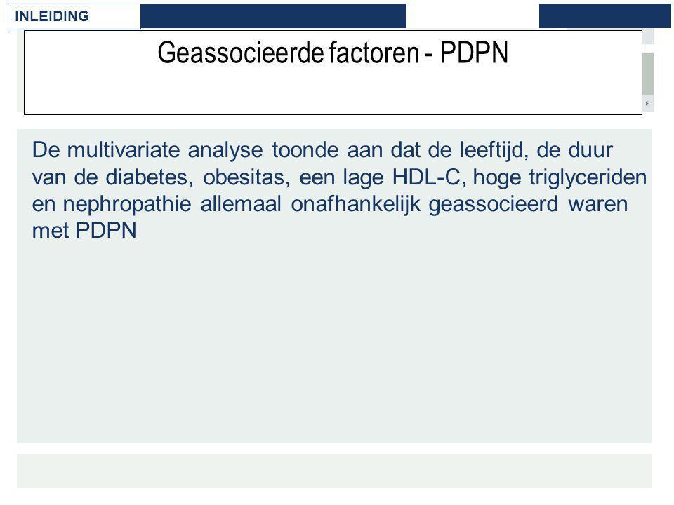 Geassocieerde factoren - PDPN