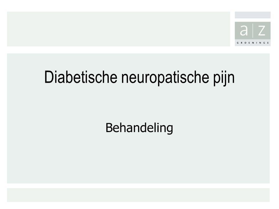 Diabetische neuropatische pijn
