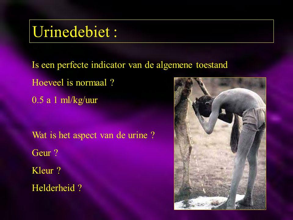 Urinedebiet : Is een perfecte indicator van de algemene toestand