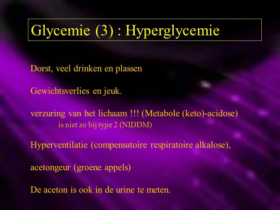 Glycemie (3) : Hyperglycemie