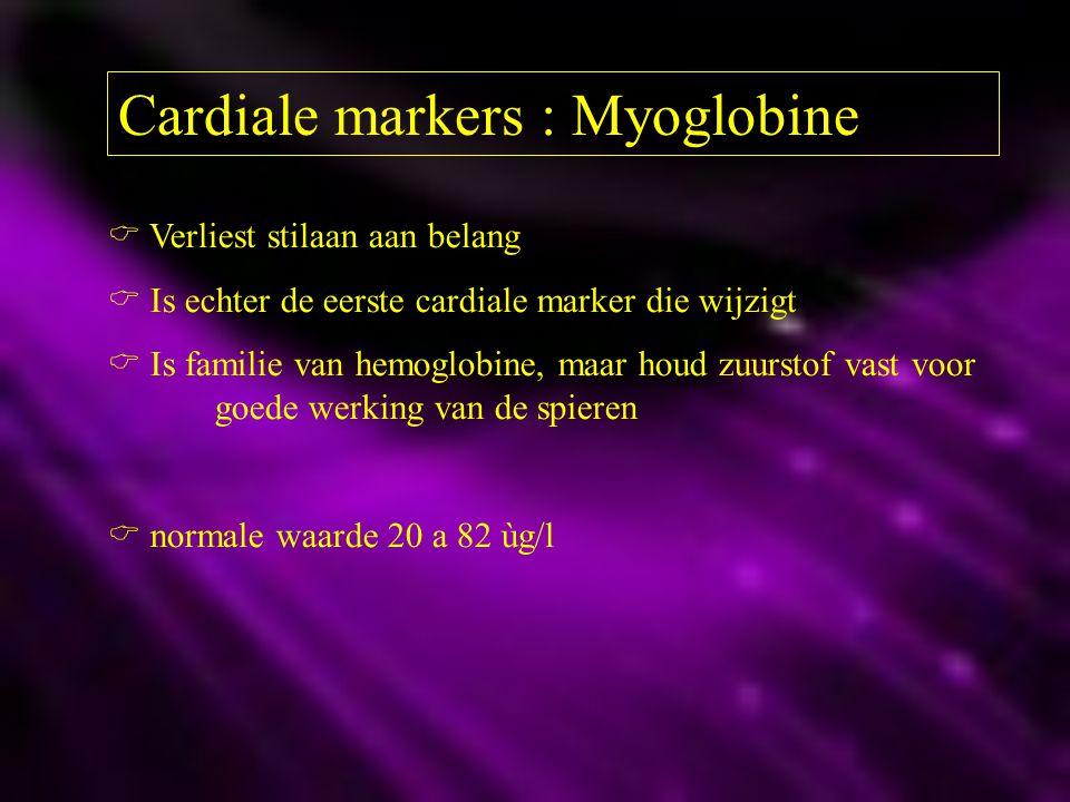 Cardiale markers : Myoglobine