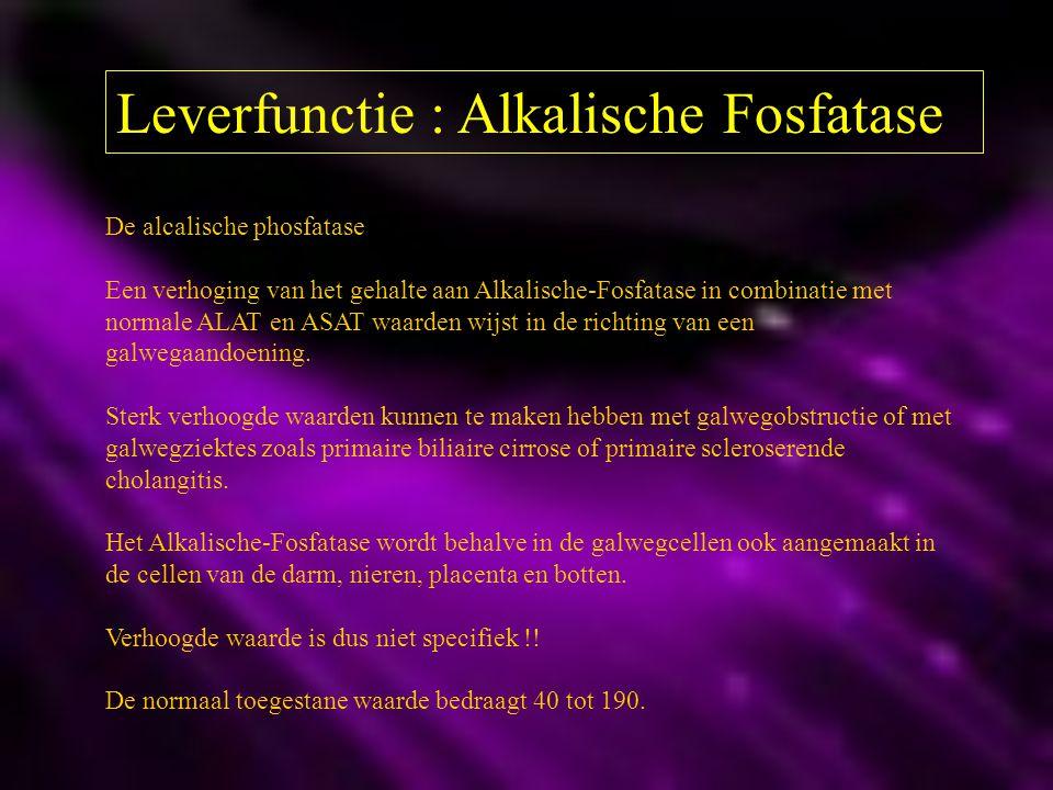 Leverfunctie : Alkalische Fosfatase