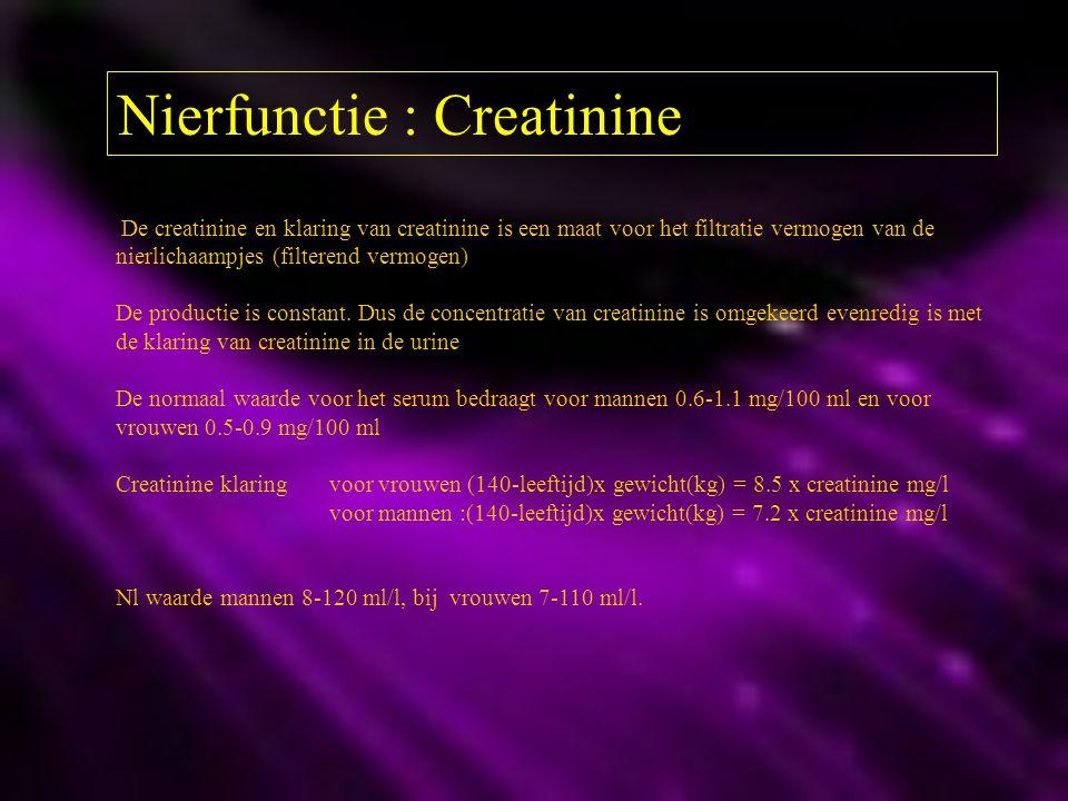 Nierfunctie : Creatinine