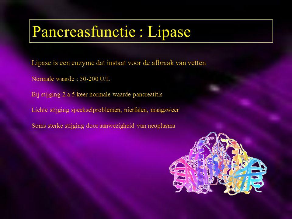 Pancreasfunctie : Lipase
