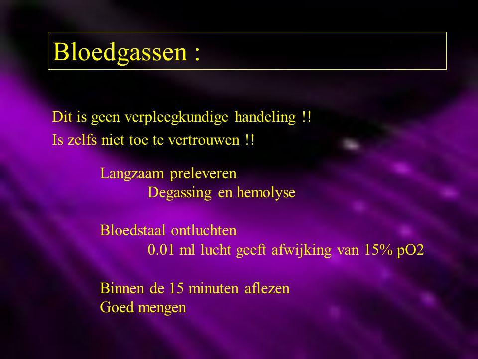 Bloedgassen : Dit is geen verpleegkundige handeling !!