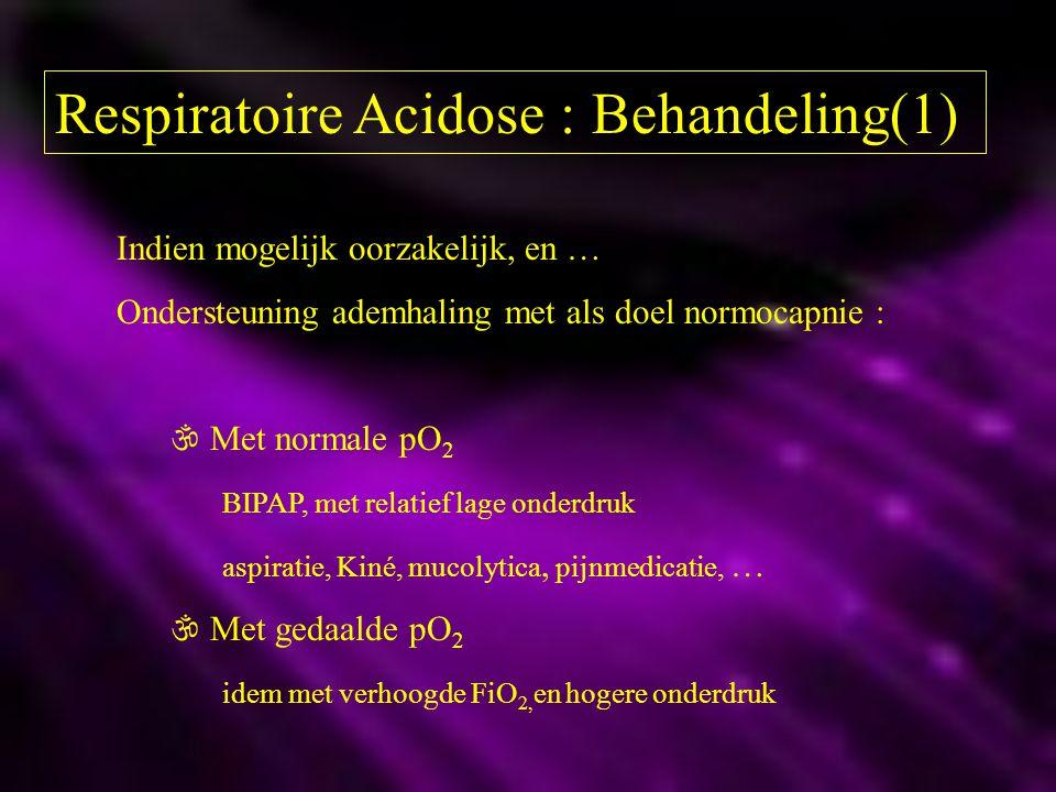 Respiratoire Acidose : Behandeling(1)