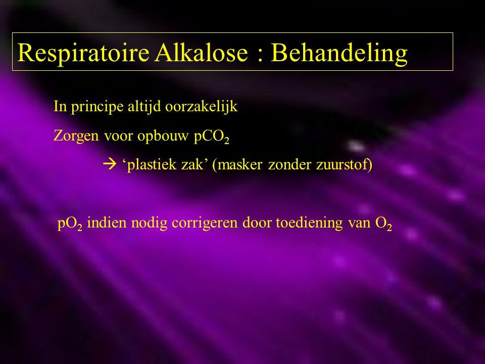 Respiratoire Alkalose : Behandeling