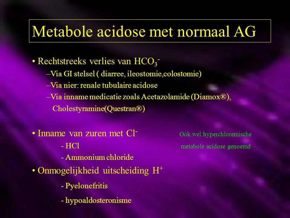 Metabole acidose met normaal AG