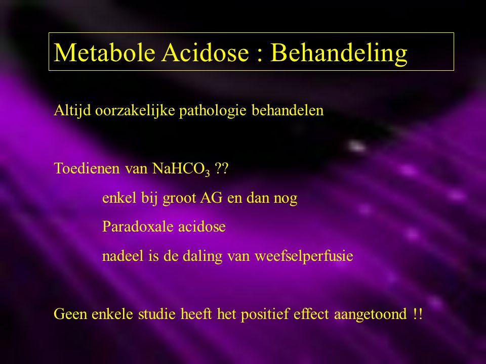Metabole Acidose : Behandeling