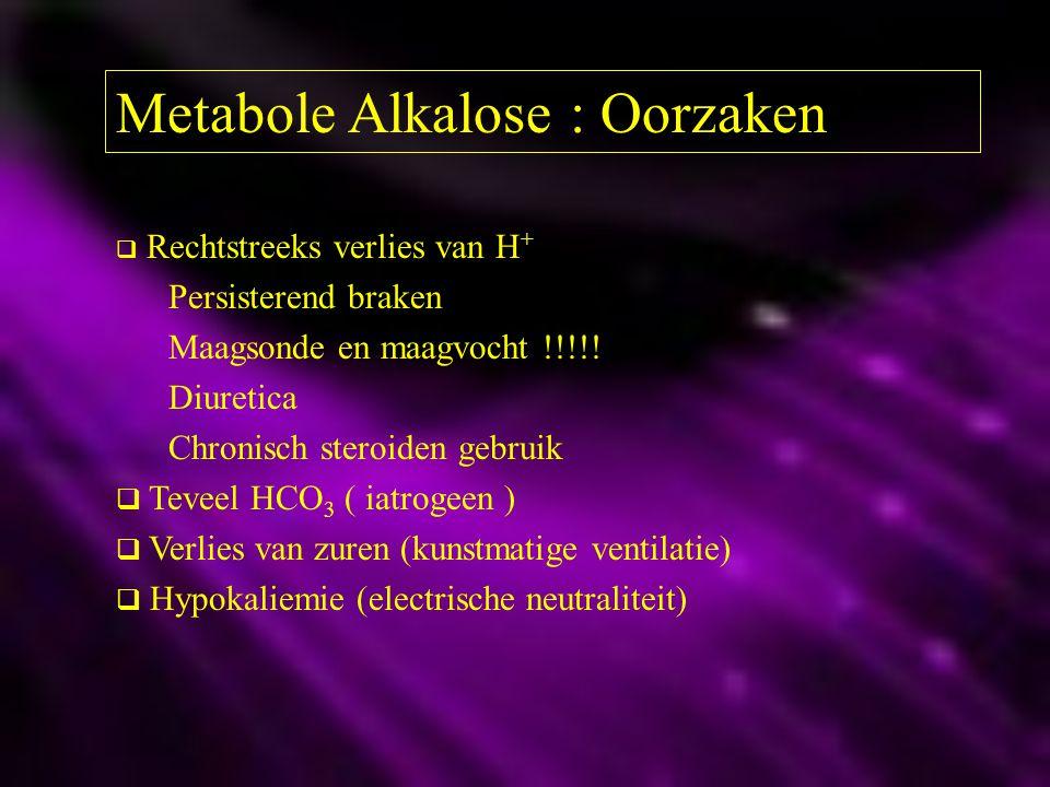 Metabole Alkalose : Oorzaken