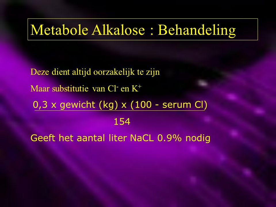 Metabole Alkalose : Behandeling