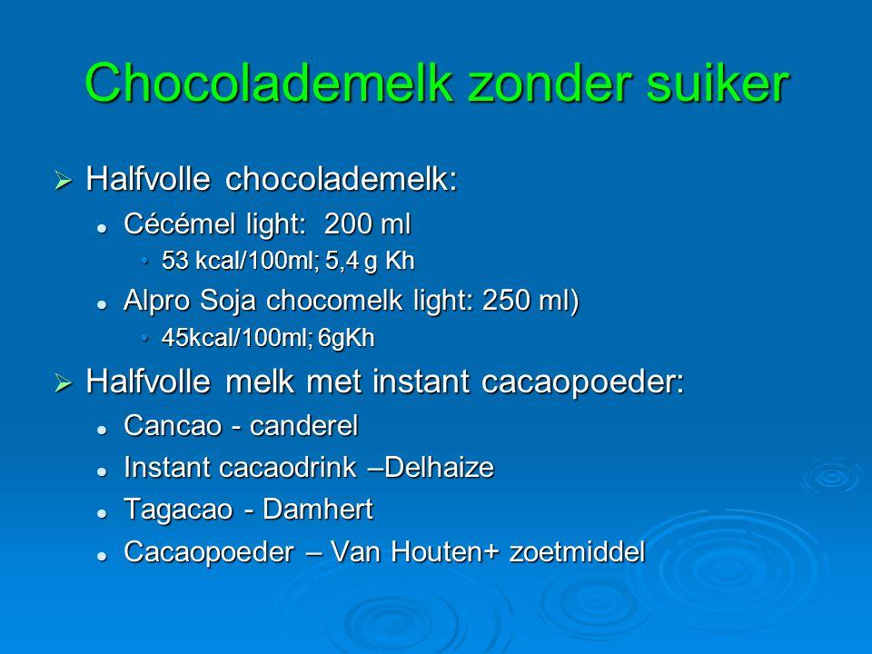 Chocolademelk zonder suiker