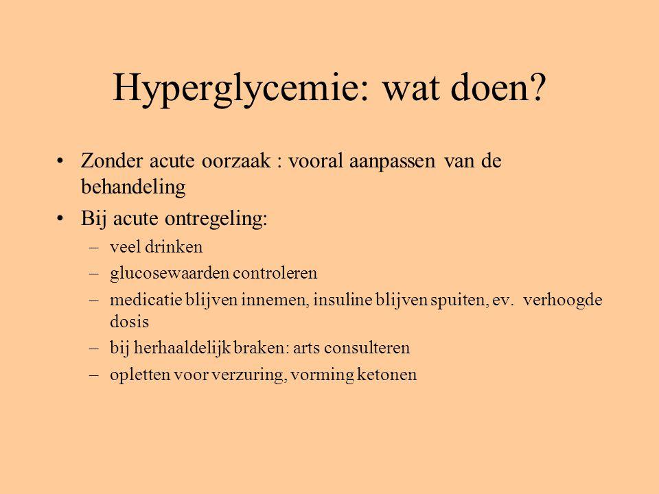 Hyperglycemie: wat doen
