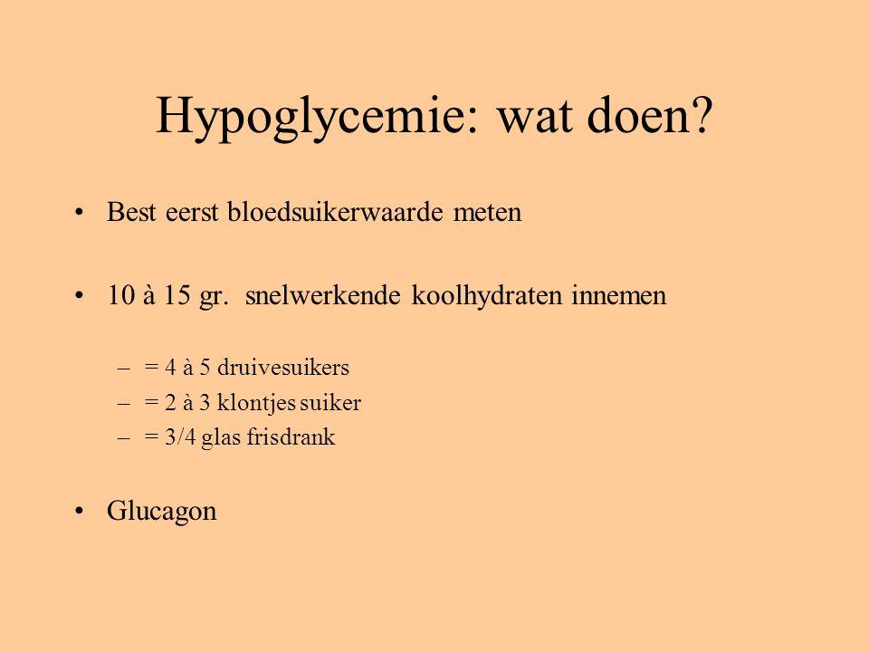 Hypoglycemie: wat doen