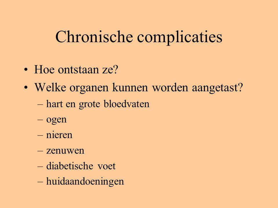 Chronische complicaties