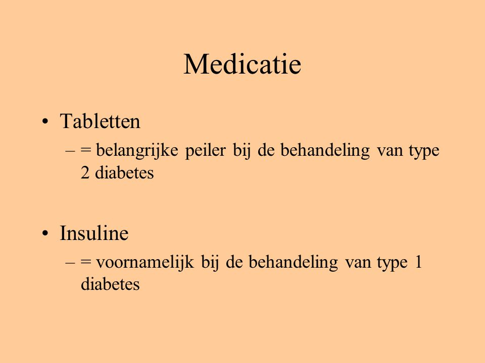 Medicatie Tabletten Insuline