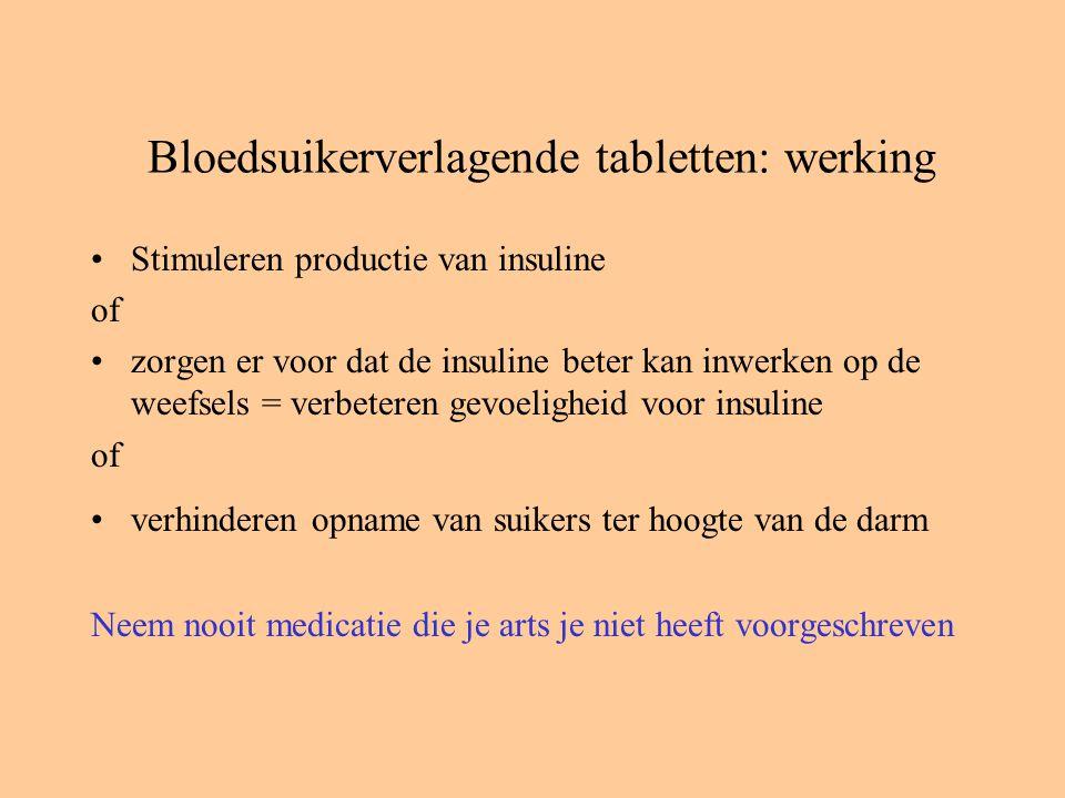 Bloedsuikerverlagende tabletten: werking