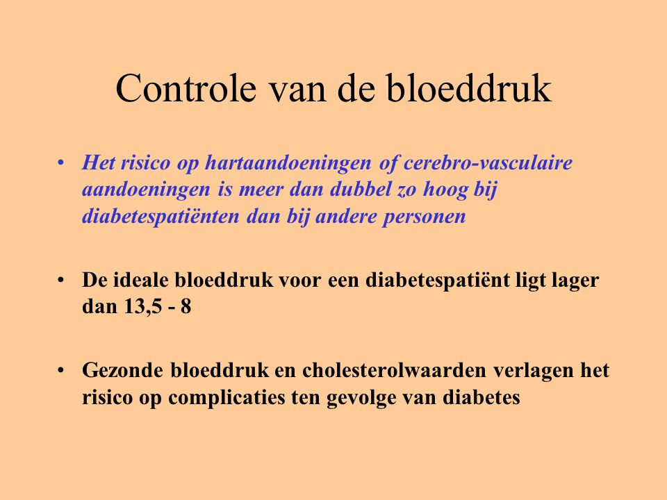 Controle van de bloeddruk