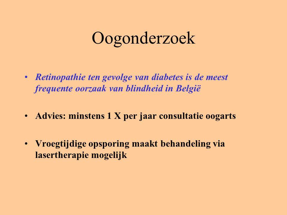 Oogonderzoek Retinopathie ten gevolge van diabetes is de meest frequente oorzaak van blindheid in België.