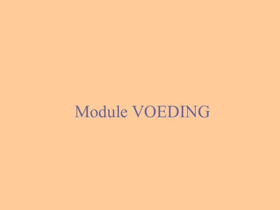 Module VOEDING