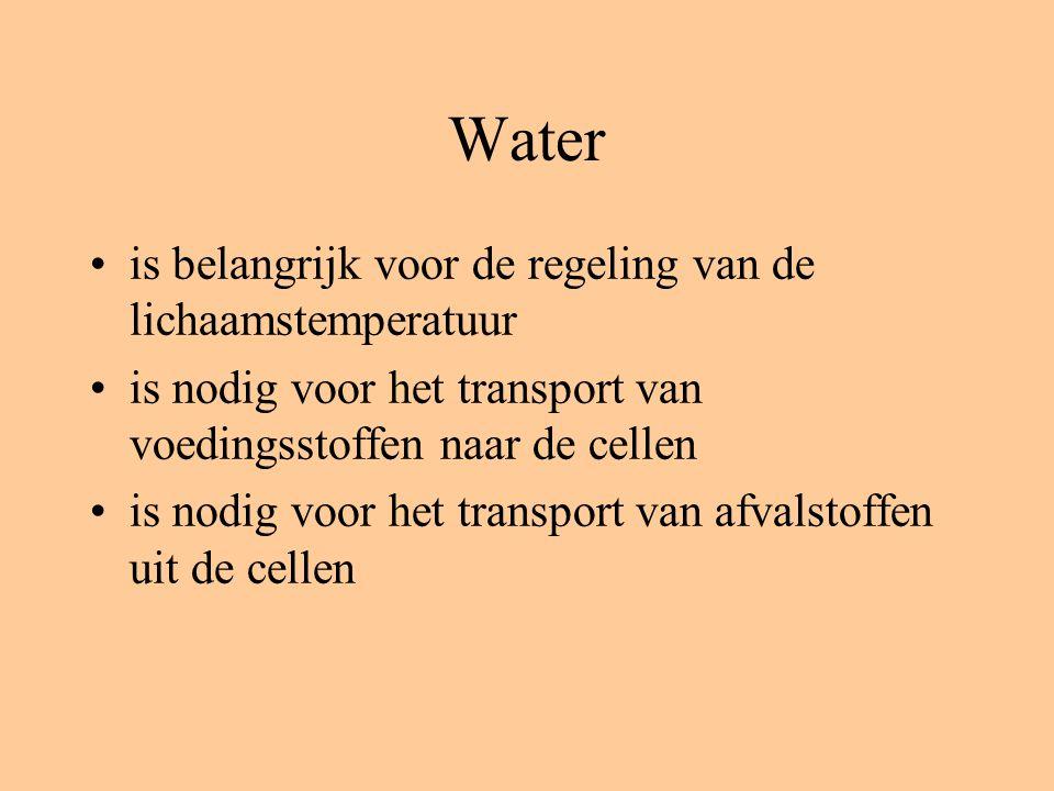 Water is belangrijk voor de regeling van de lichaamstemperatuur