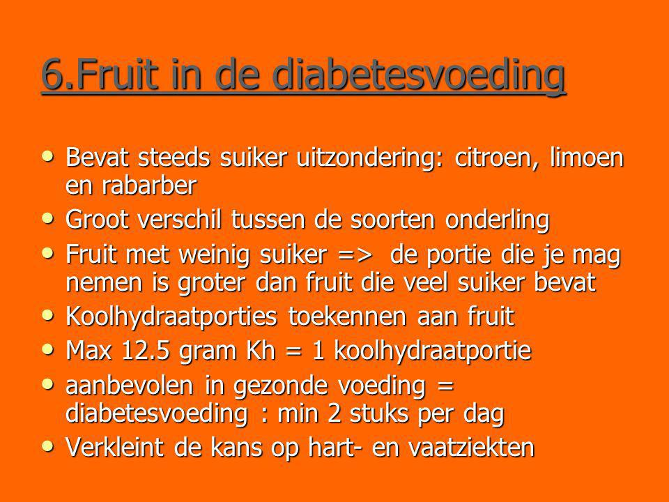 6.Fruit in de diabetesvoeding