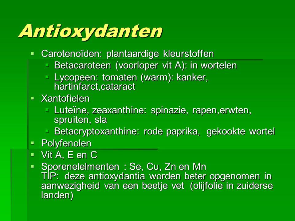 Antioxydanten Carotenoïden: plantaardige kleurstoffen