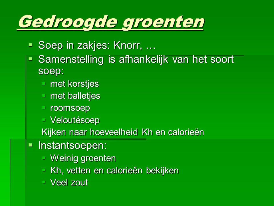 Gedroogde groenten Soep in zakjes: Knorr, …