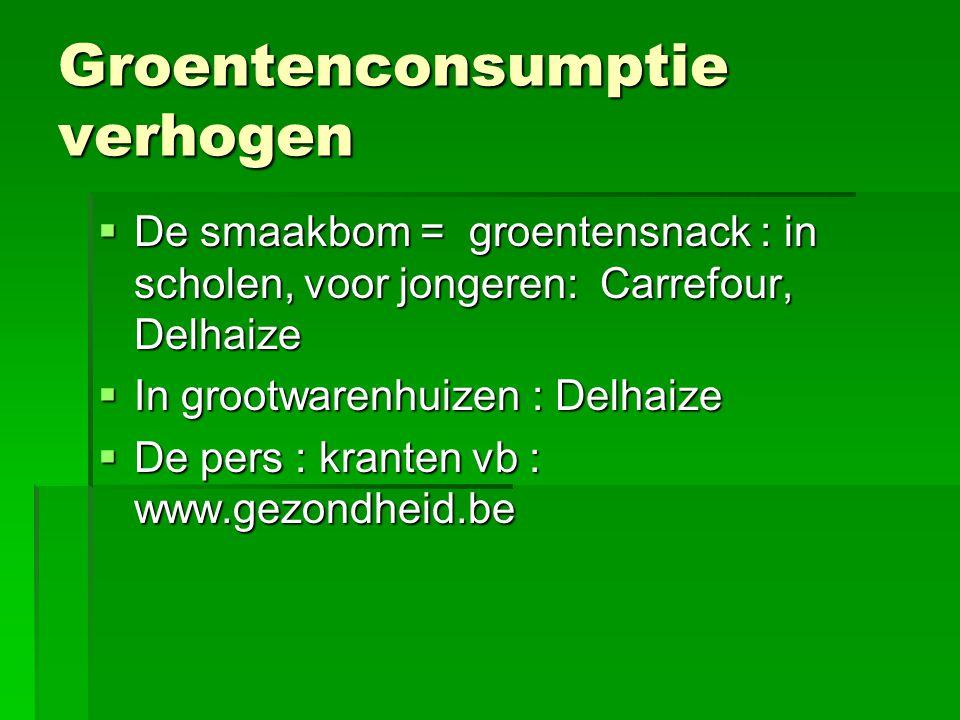 Groentenconsumptie verhogen