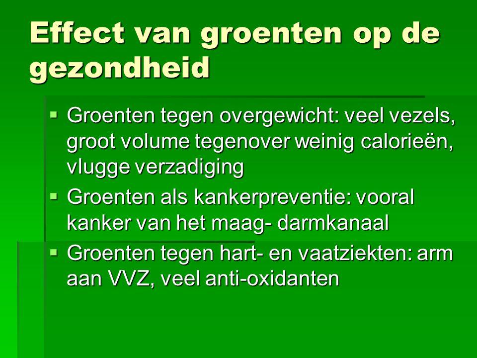 Effect van groenten op de gezondheid