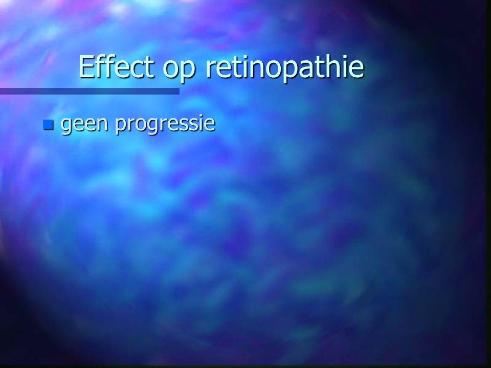 Effect op retinopathie