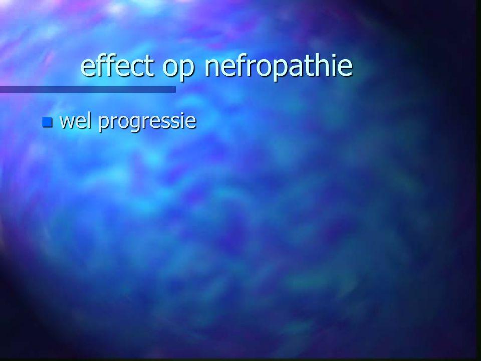effect op nefropathie wel progressie