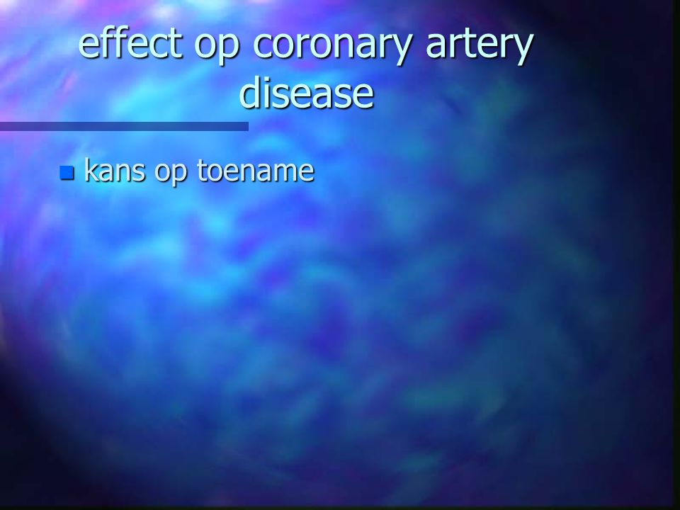effect op coronary artery disease
