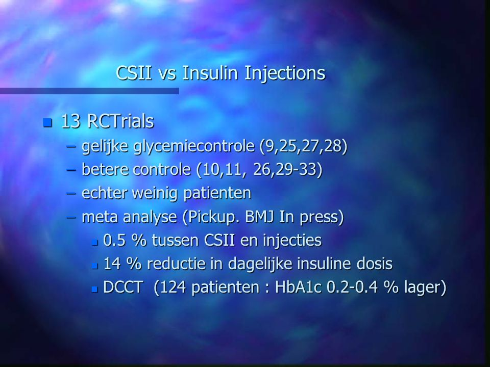 CSII vs Insulin Injections