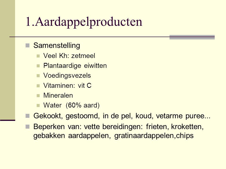1.Aardappelproducten Samenstelling