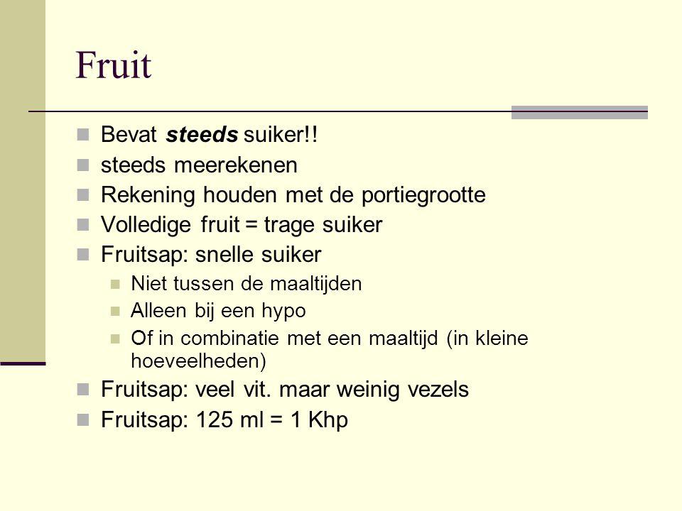 Fruit Bevat steeds suiker!! steeds meerekenen