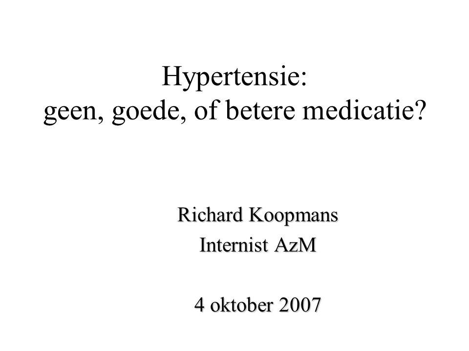 Hypertensie: geen, goede, of betere medicatie