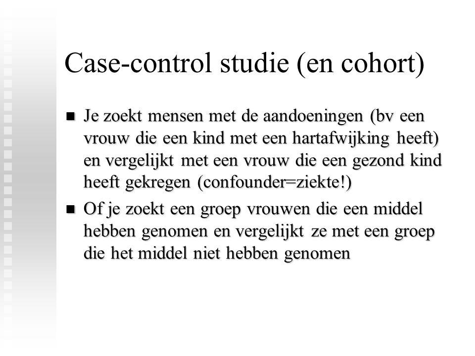 Case-control studie (en cohort)