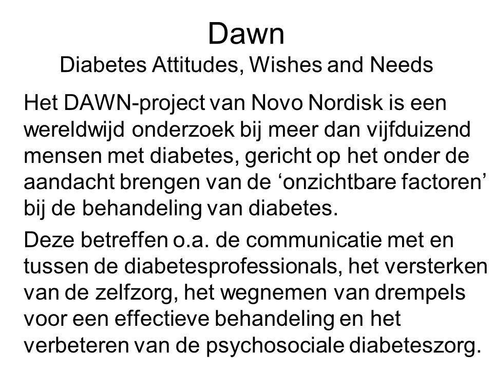 Dawn Diabetes Attitudes, Wishes and Needs