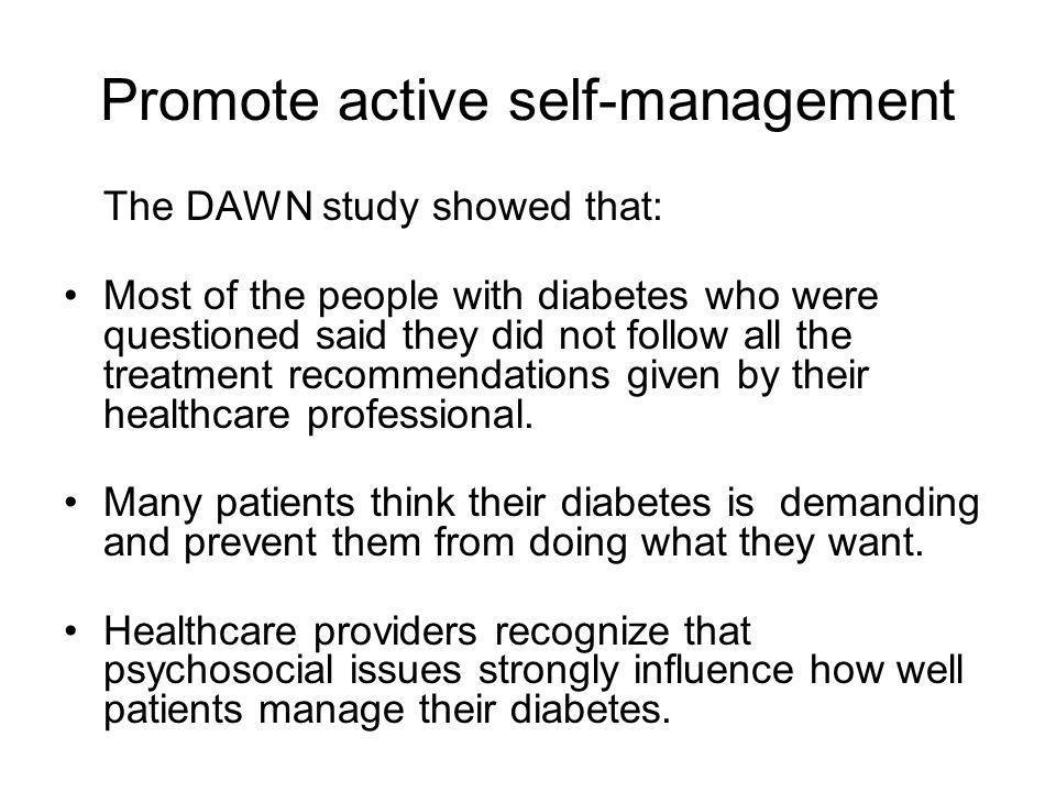 Promote active self-management