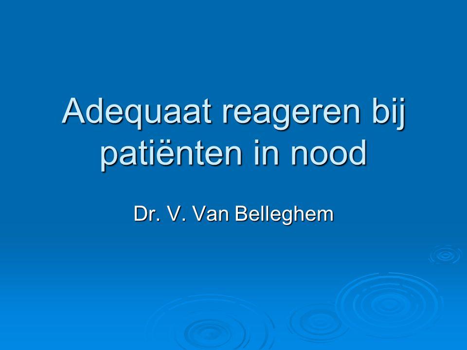 Adequaat reageren bij patiënten in nood