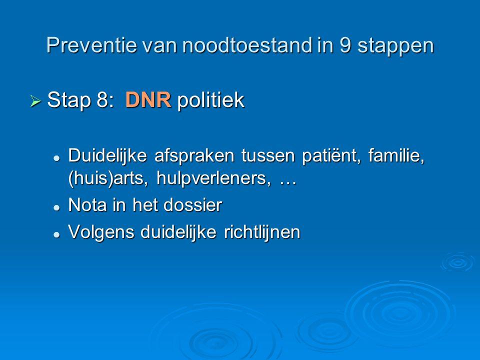 Preventie van noodtoestand in 9 stappen