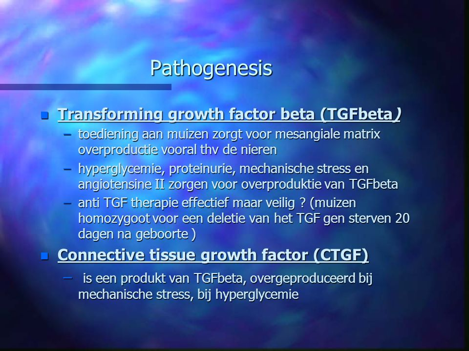 Pathogenesis Transforming growth factor beta (TGFbeta)