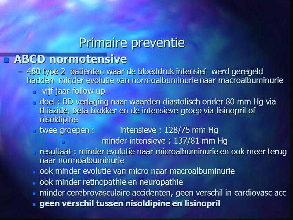 Primaire preventie ABCD normotensive