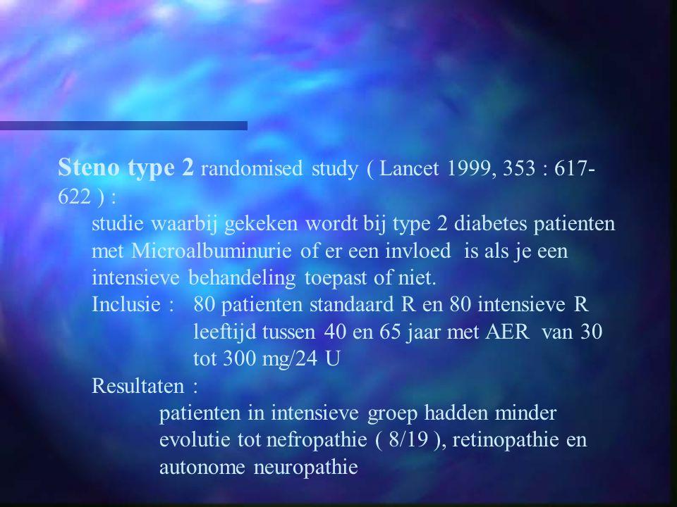 Steno type 2 randomised study ( Lancet 1999, 353 : 617-622 ) :