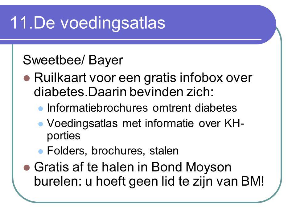 11.De voedingsatlas Sweetbee/ Bayer