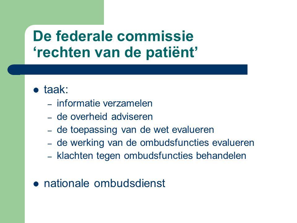 De federale commissie 'rechten van de patiënt'