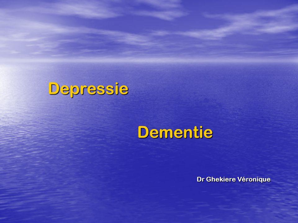 Depressie Dementie Dr Ghekiere Véronique